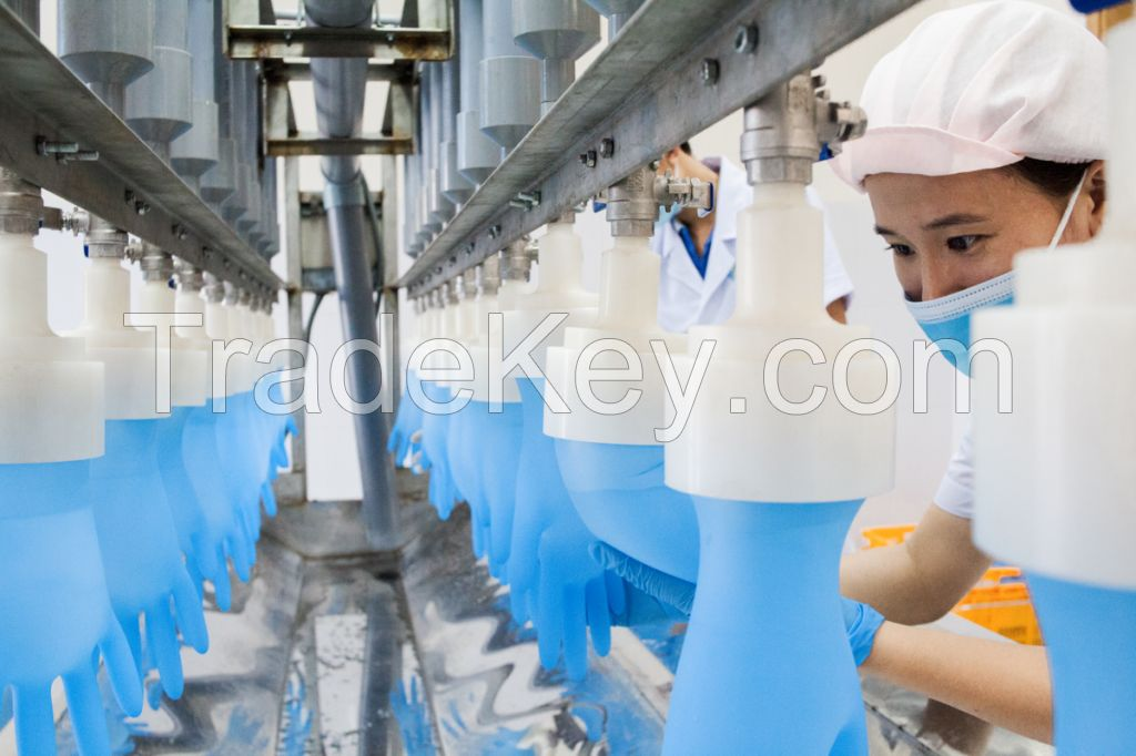 Blue Nitrile examination gloves