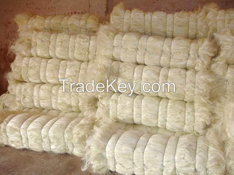 Hot sales 100% Sisal Natural Fiber/ natrual sisal fiber for rope ,sisal twine,sisal fibre