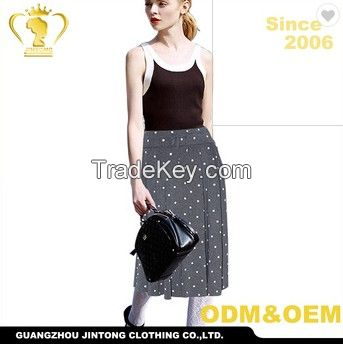 2018 Latest Dot Long Indian Cotton Skirt Wholesale Cheap Skirt