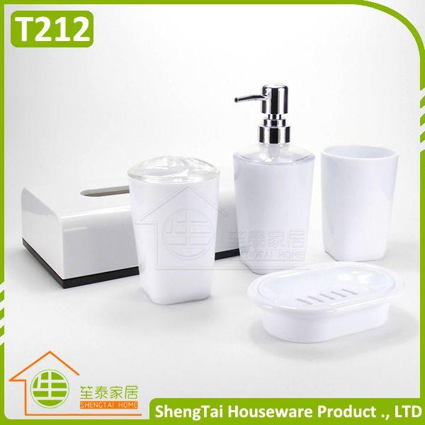 Manufactory Wholesale Cheapest High Quality Plastic Bathroom Set