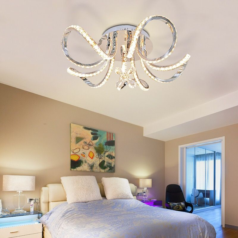 Five-head crystal ceiling light