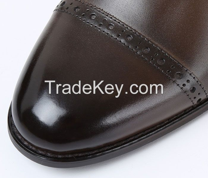 Man's genuine leather dress shoes, business shoes, casual shoes, nice quality shoes, bespoke