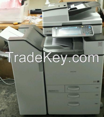New Ricoh MPC6003SP All-In-One Multifunction Color Copier Single Pass Doc Feeder