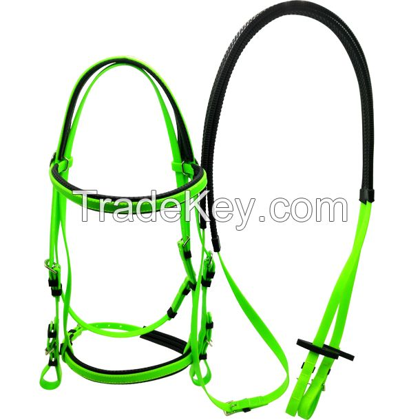cold resistant waterproof PVC horse bridles and reins