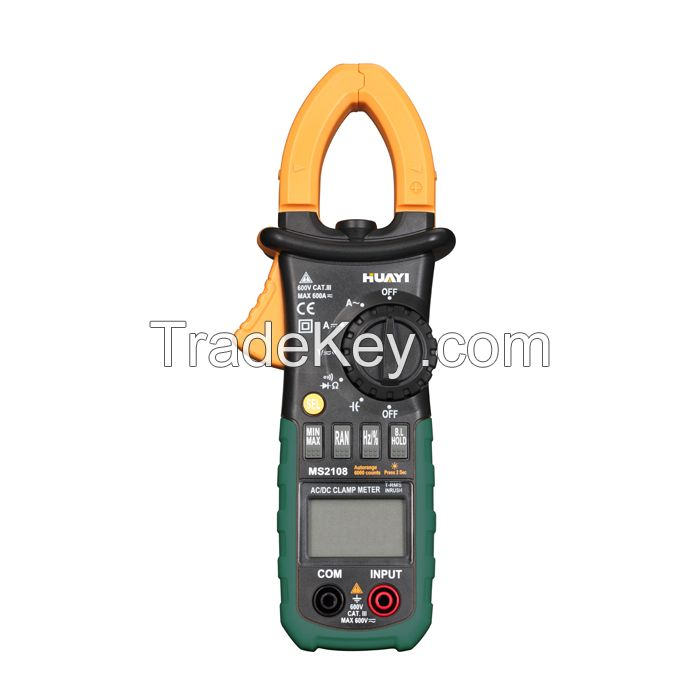 Digital Clamp Meter MS2108 True-RMS AC/DC Clamp Meter