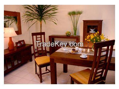 Teak wood furniture dining room set