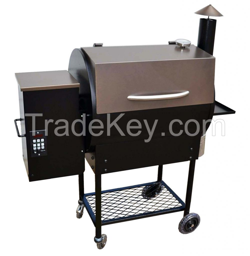 Commercial Wood Pellet Smoke Grill with PID Controller/BBQ-07E