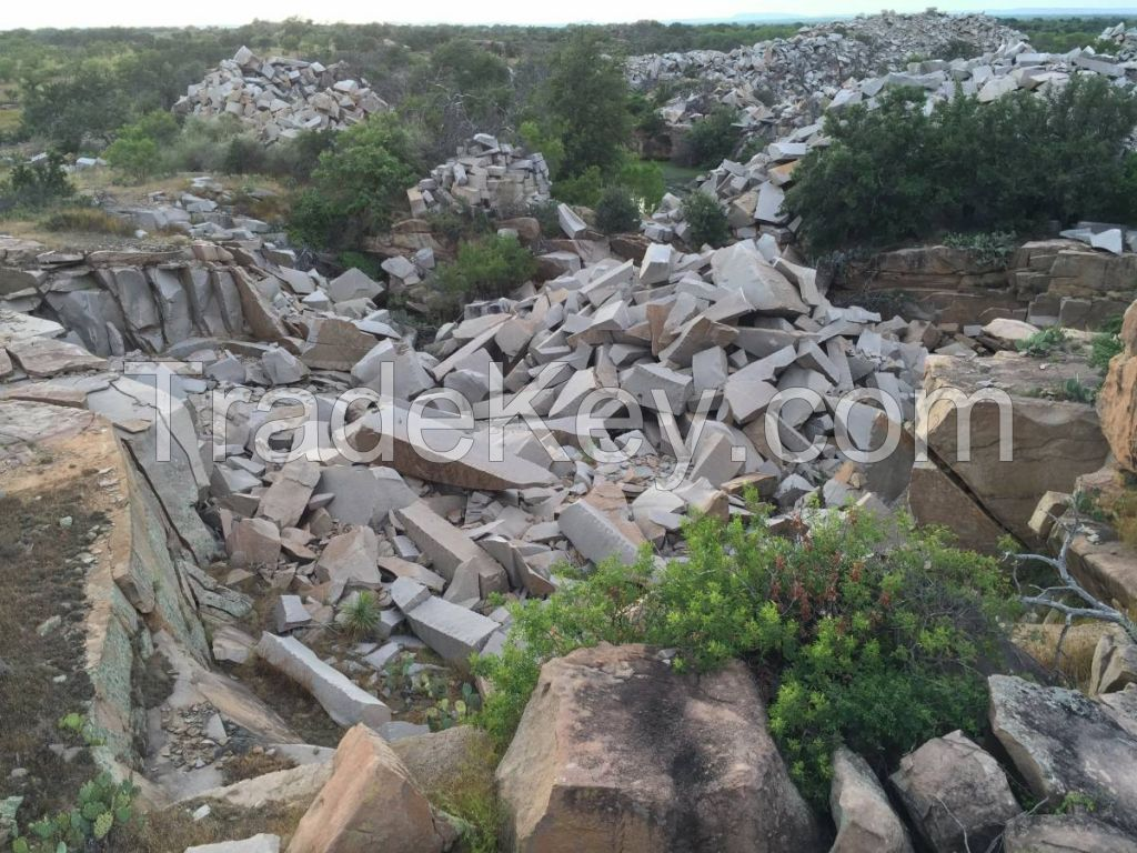 Natural granite stone, rough granite blocks, reclaimed