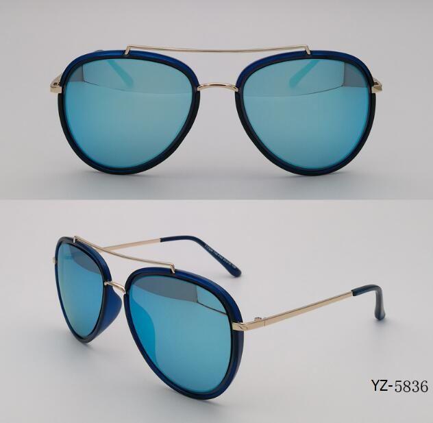 Glasses UV400 Fashion Custom Logo Unisex Plastic Polarized Sunglasses (YZ-5836)