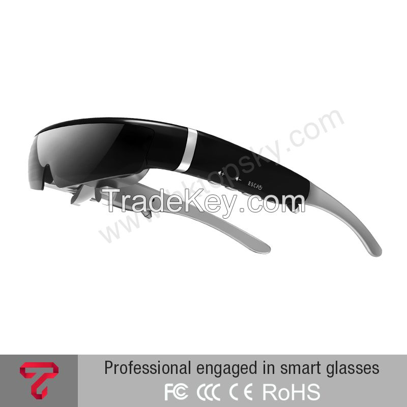 98 Inch 16:9 wide Screen Virtual Display 3D Video Glasses Movies on Portable Eyewear Screen Support 1080p
