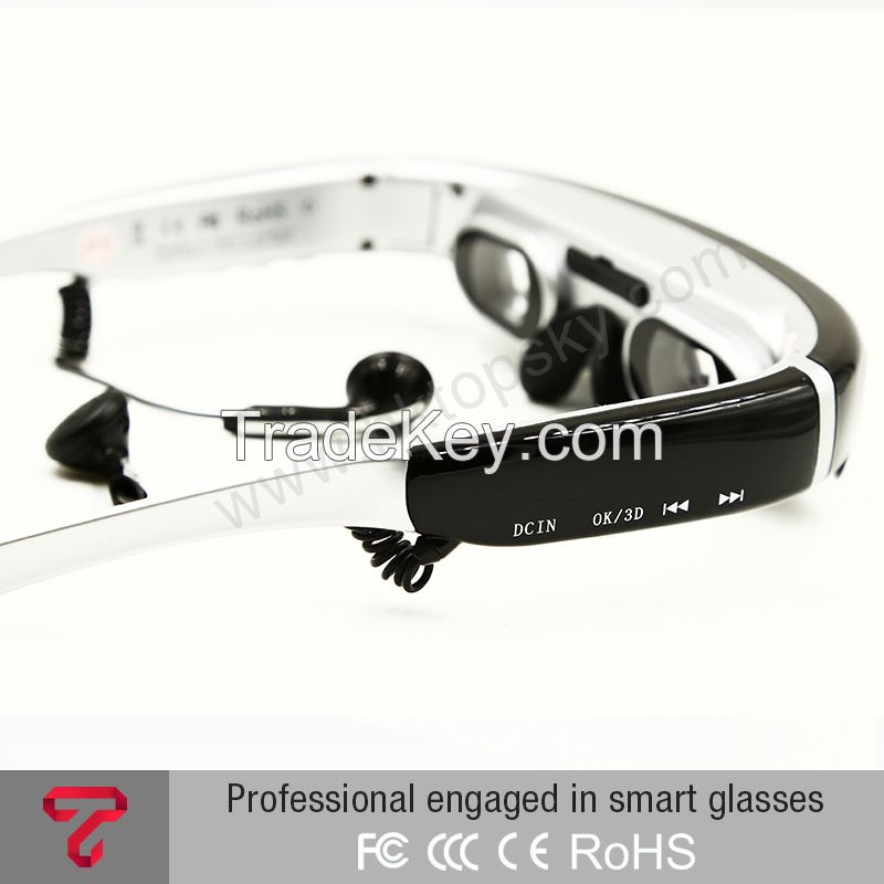 Hot selling 98inch 16:9 lcd video 3d glasses hdmi, built in 8G memory, 3d format side by side