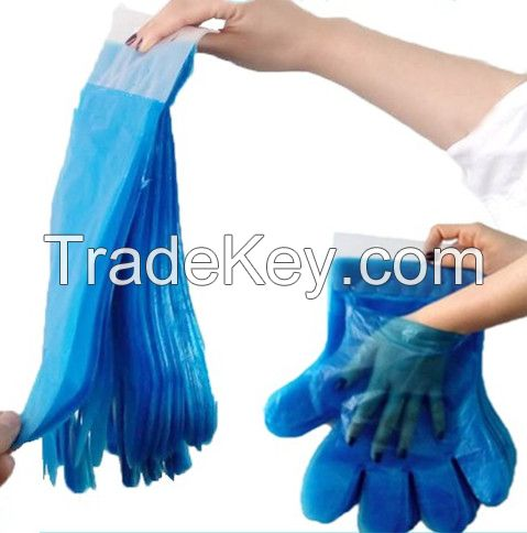 HDPE/LDPE pe glove , disposable plastic glove