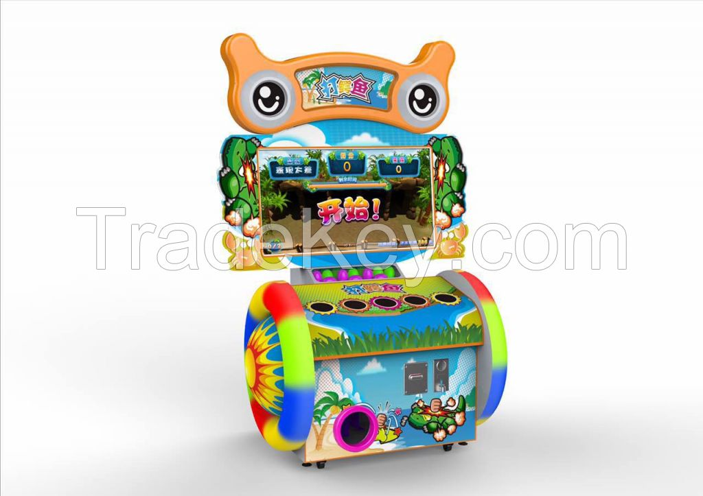 42'' LCD happy crocodile coin operated hitting redempion game machine