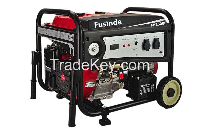 Fusinda 2kw electric start petrol generator with SASO certificate generator