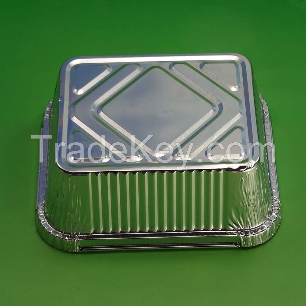 Hot sales aluminum foil container 9 inch aluminum foil tart pan with lid for food packing