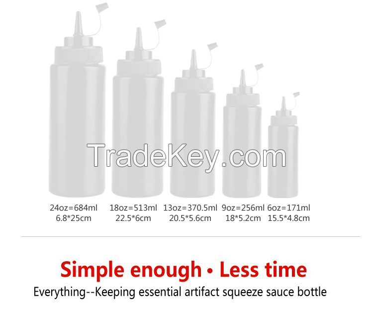 High quality kitchen tools plastic soy  plastic 150ml squeeze sauce bottle