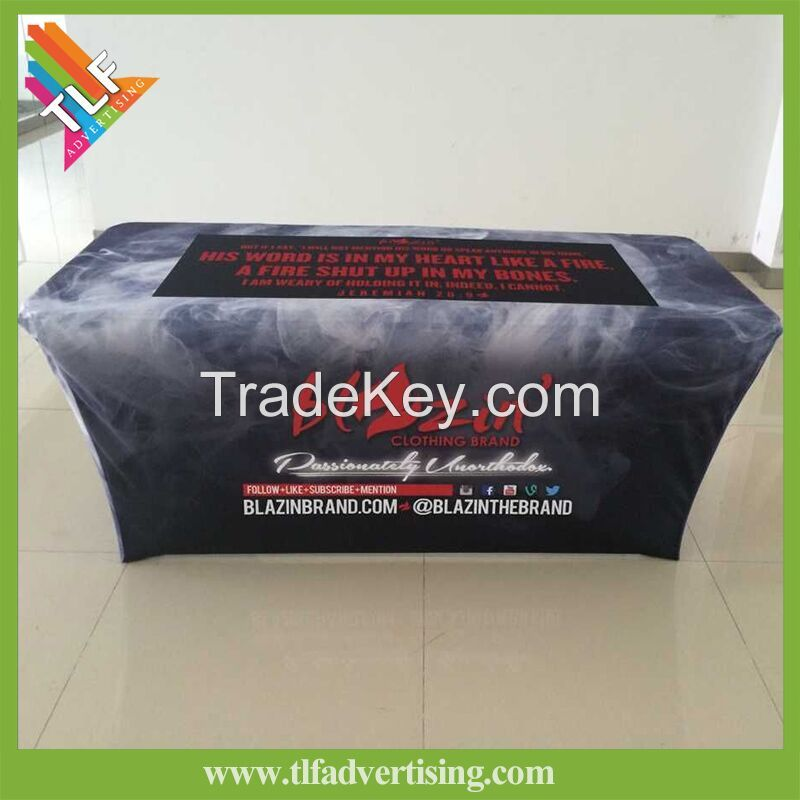 Trade Show Spandex Custom Printed Table Cloth with Spandex Polyester Material