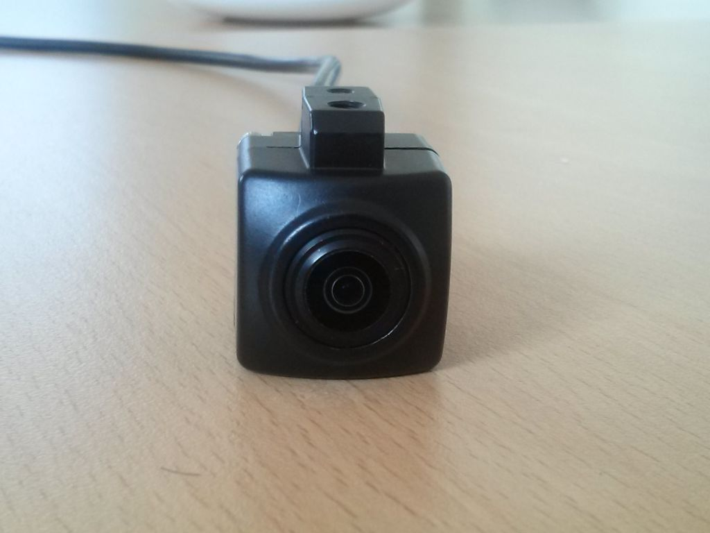 Rearview camera module for heavy machinery