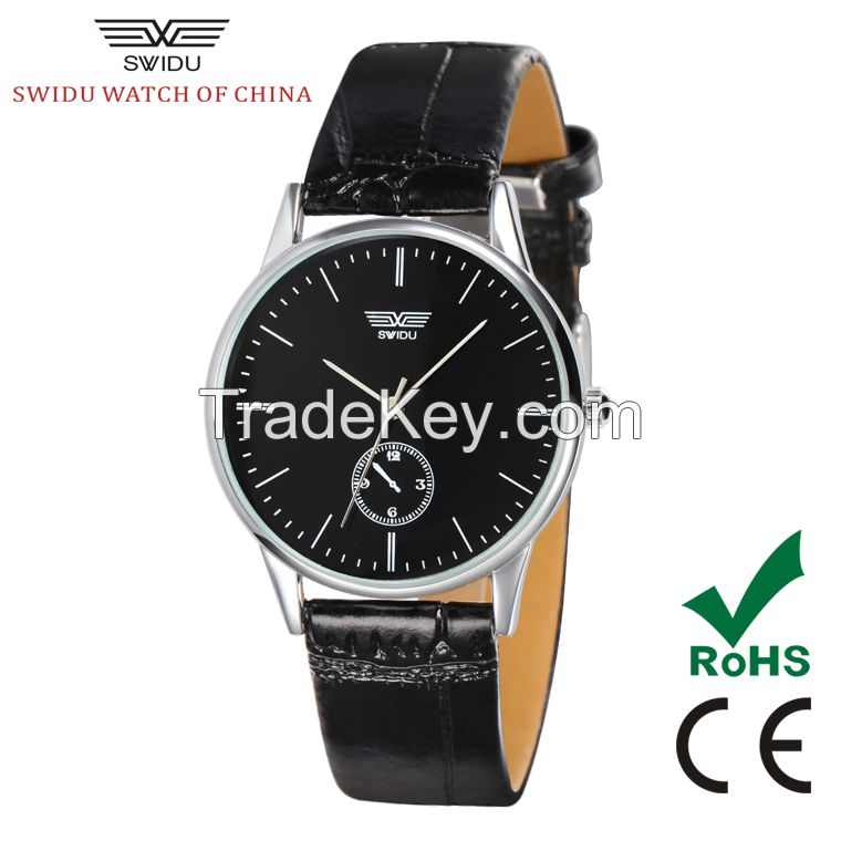SWIDU stainless steel back water resistant valentine couple watches for lovers SWI-003