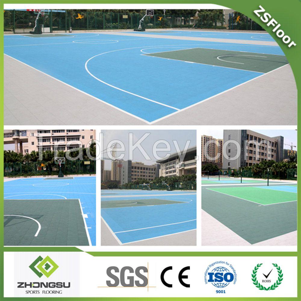 Basketabll court flooring