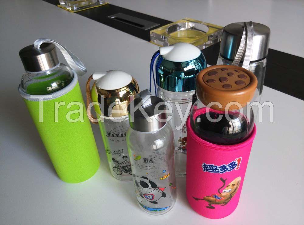 Portable bottle, sports bottle, glass drinking bottle, portable drinking bottle