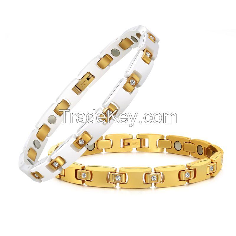 Hot sell Healthy Bio Germanium Ceramic Energy Magnetic Bracelet