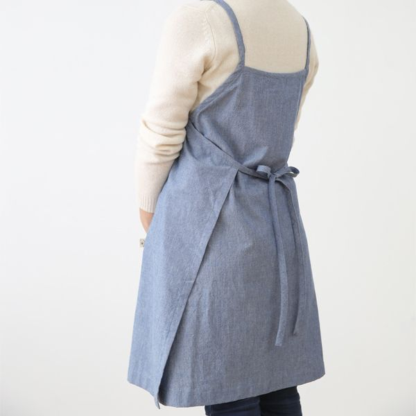 Blue Denim One-Piece Apron