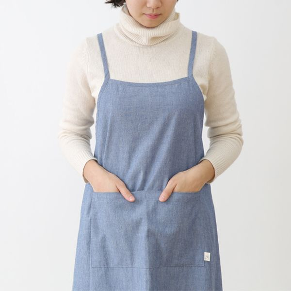Blue Denim One-Piece Apron
