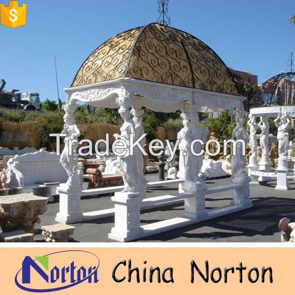 large garden stone gazebo for sale