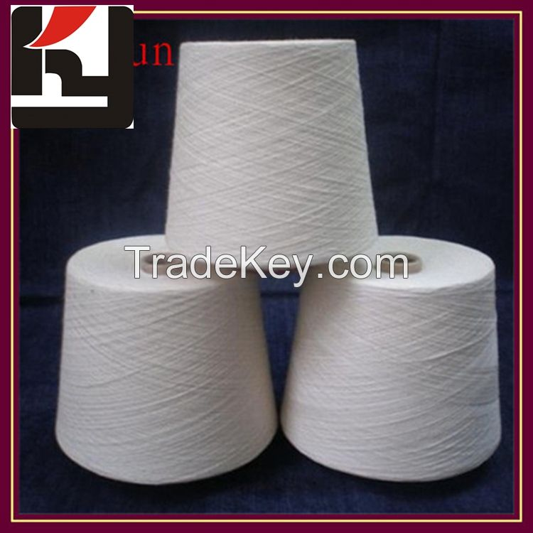 100% polyester material spun technic yarns for weaving