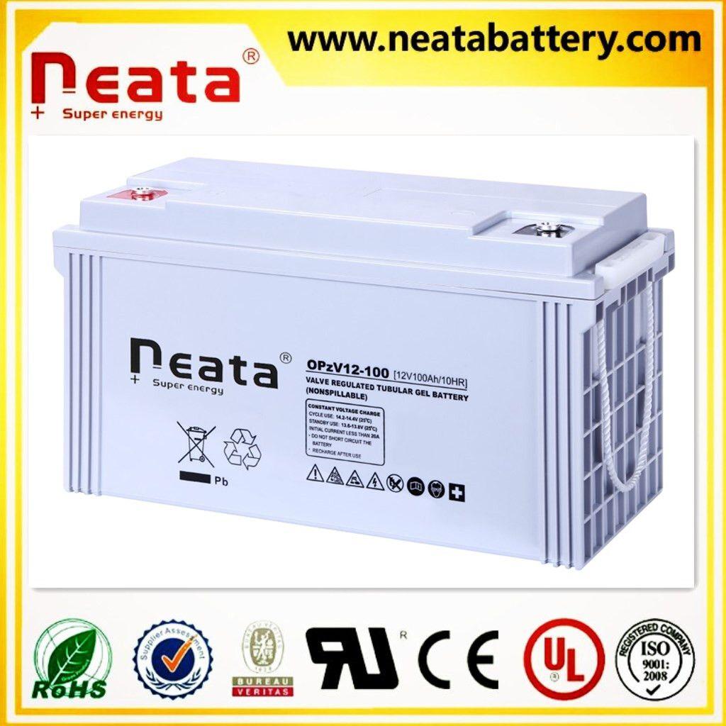 Sealed Deep Cycle Battery Tubular Gel Solar Battery OPzV Battery 12V100AH