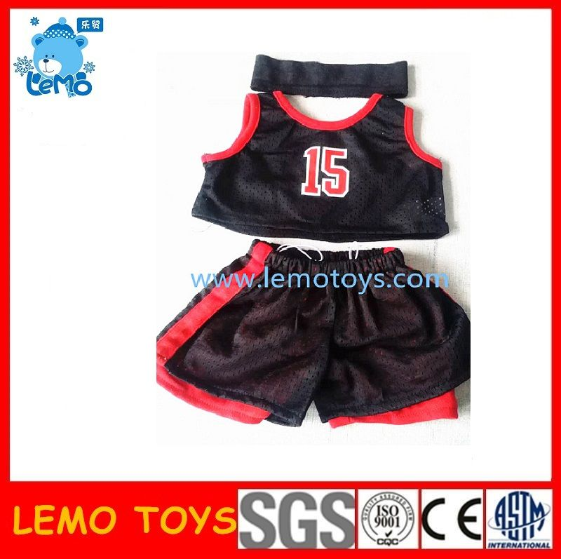 Teddy bears' basketball uniform