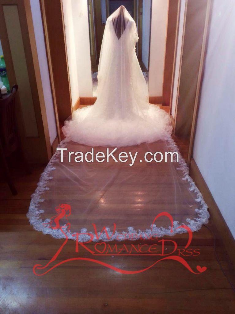 customized full beading a-line sleeveless v-back evening dress