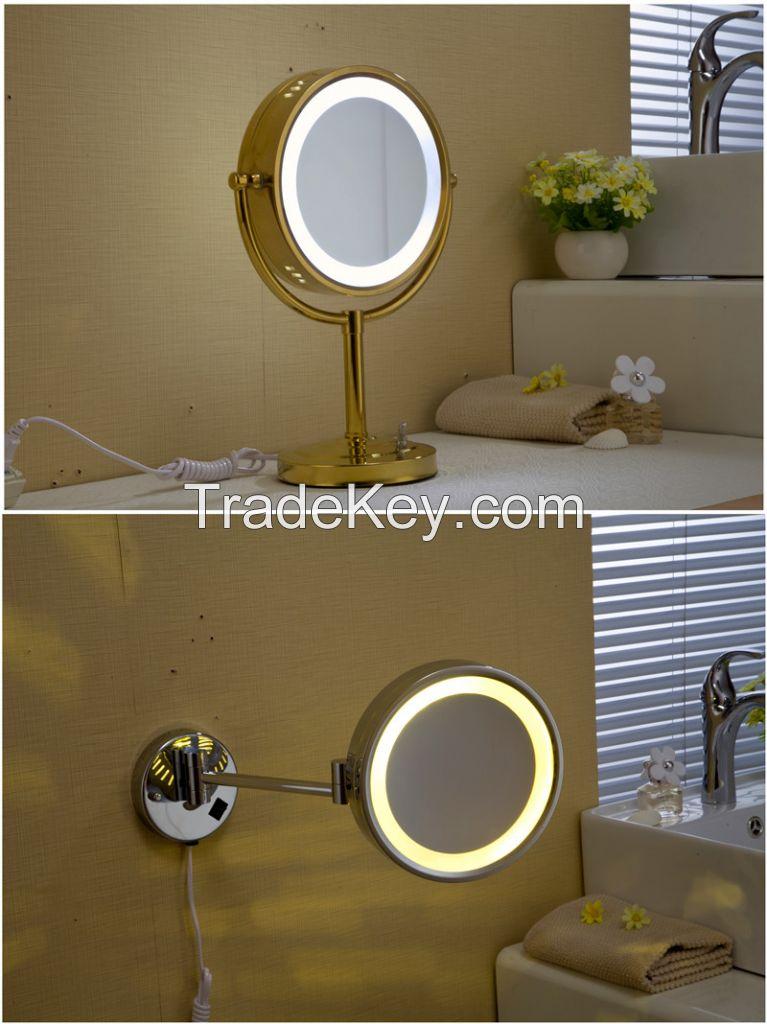 LED lamp make up bathroom mirror