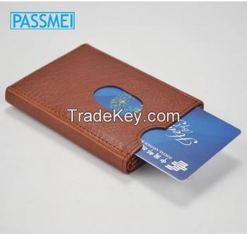 high quality genuine leather custom card holder
