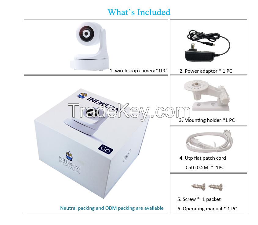 Manufacturer OEM smart home 720P Wifi 360 auto tracking camera