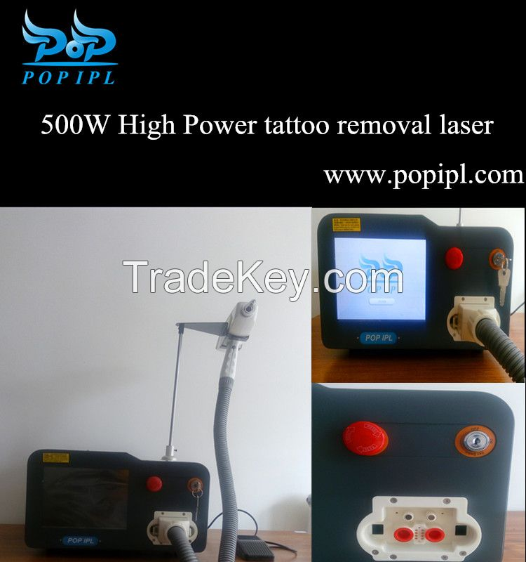 Tattoo Removal System POP-QL5 black face Tattoo Removal System with 3 nozzle