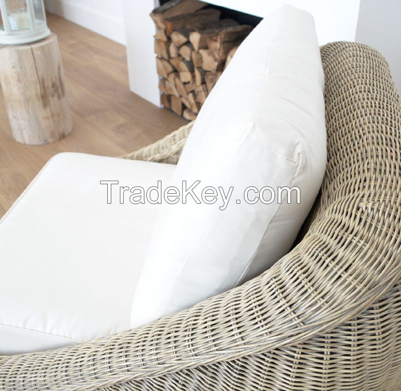 Natural rattan armchair, model MRW-POL-09