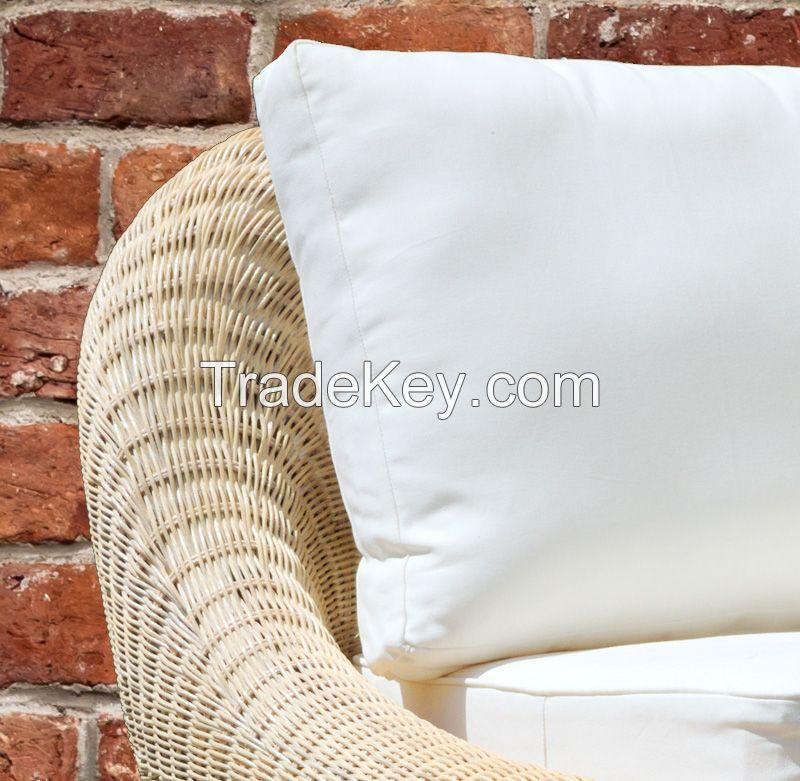 Natural rattan armchair, model MRW-POL-08