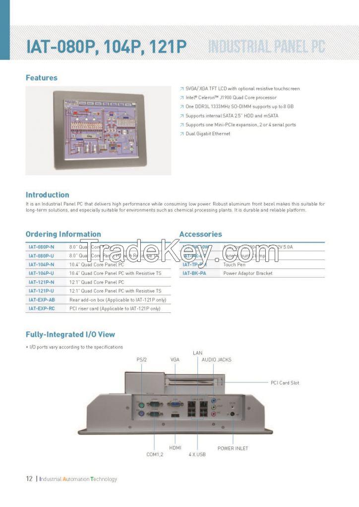 Panel PC IAT-080p, IAT-104p, IAT-121p