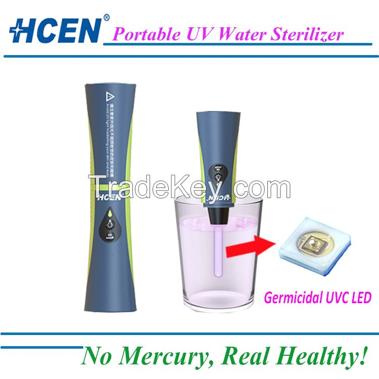 Outdoor camping use portable uv water sterilizer/ water putifier