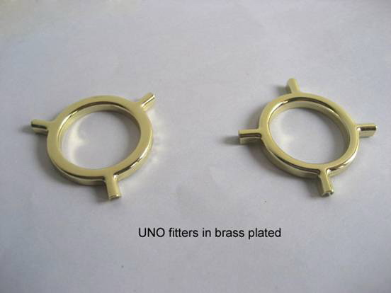 UNO fitters, threaded UNO fitters, lampshade parts