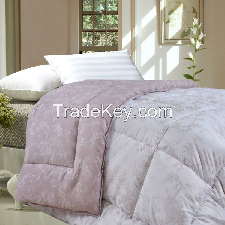 Superfine polyester quilted comforter set polyester quilt bedding set