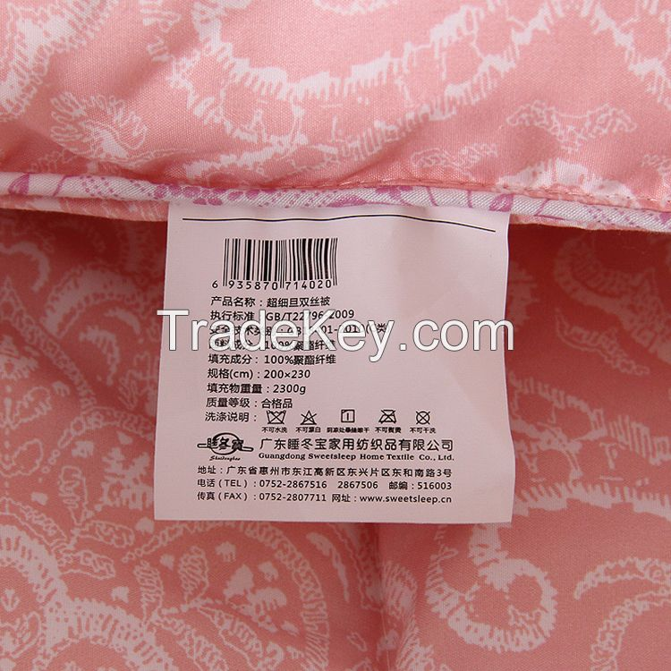 Superfine polyester quilted comforter set polyester quilt bedding set