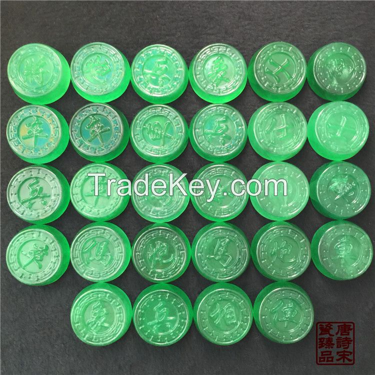 Chinese Jade Chess Full of Green Jadeite chess Treasures with Gifts