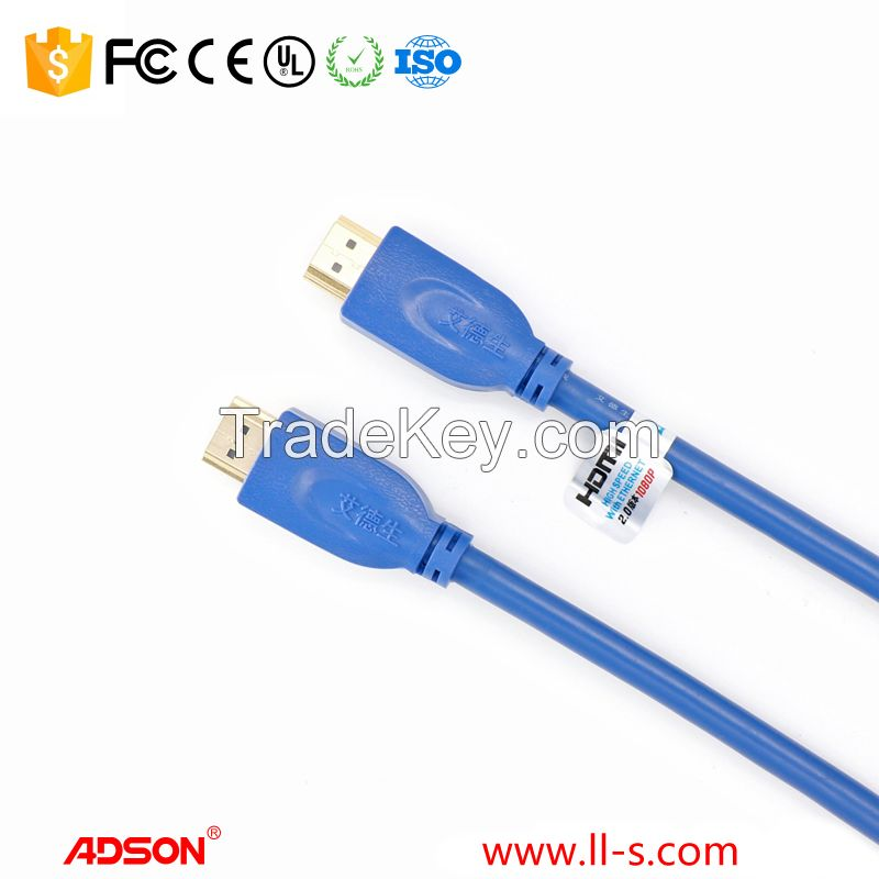 1.5m HDMI Cable HDMI 2.0 (4K @ 60Hz) Ready Braided Cord - High Speed 18Gbps - Gold Plated Connectors - Ethernet / Audio Return - Video 2160p HD 1080p 3D - up to 60M 200ft