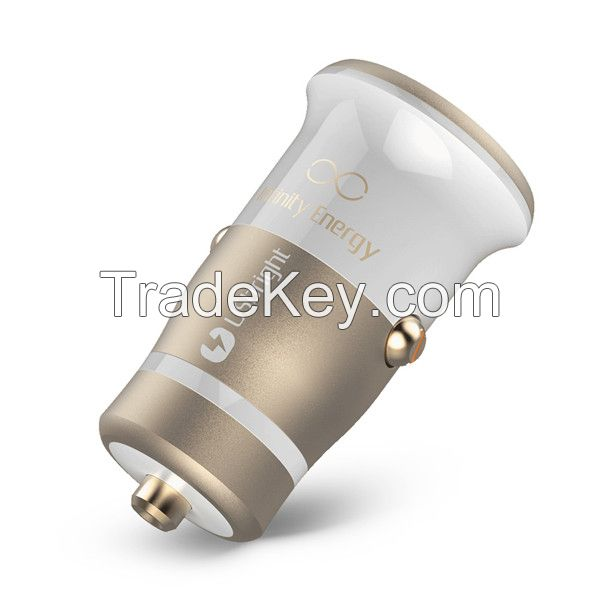 1 year warranty New patent electric type led dual usb phone car charger with CE ROHS FCC