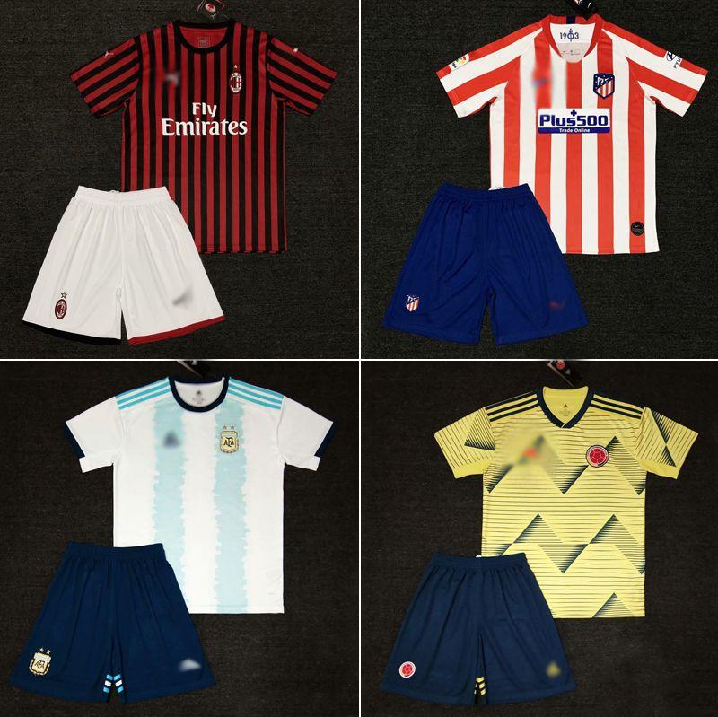2019-2020 Soccer Kits Soccer Uniform with Shirt and Short Football Uniforms Wear