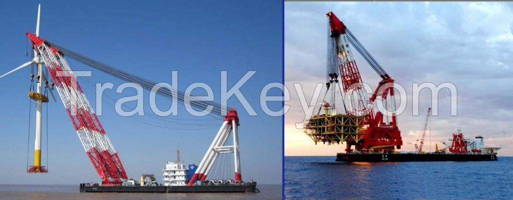 Floating crane barge 3000t 3500t 3600t 3800t 4000t 5000t for sale or for charter rent used crane vessel crane ship 1000t 1500t 2000t 2500t 900t 800t 700t 600t 500t 400t 300t 200t 100t 150T 250T 50T  (50t to 5000t)