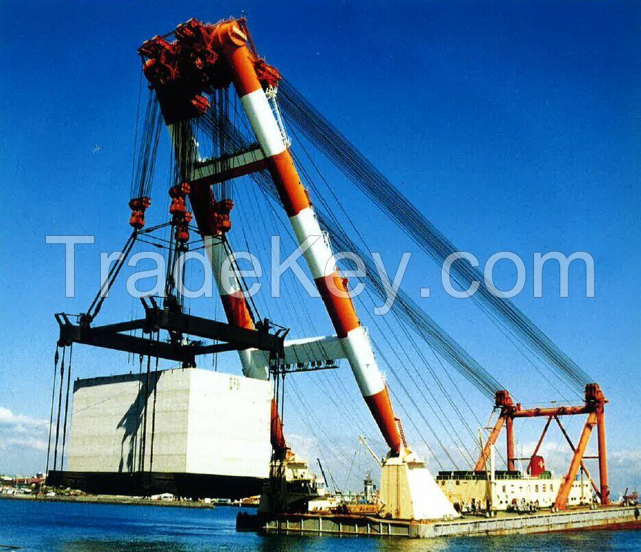 sheerleg 3000t floating crane 3000 ton shearleg floating crane barge cheap sale